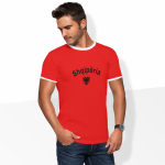 Produktbild Ringer T-Shirt Albanien Logo