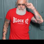 Produktbild T-Shirt Düsseldorf Block 42 rot