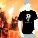Produktbild T-Shirt nur Fussball im Kopf  schwarz Ultras