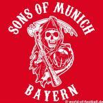 Herren  Hoodie Pullover sons of munich rot