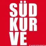 Herren T-Shirt Rundhals Crewneck Bayern Südkurve Block rot