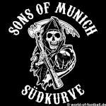 Herren T-Shirt Rundhals Crewneck Bayern sons of munich Südkurve schwarz