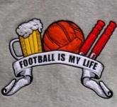 Kapuzenpulli football is my life