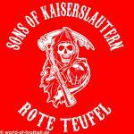 Kapuzenpulli  Sons of Kaiserslautern Rote Teufel rot