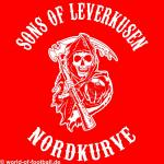 Kapuzenpulli Sons of Leverkusen Nordkurve rot