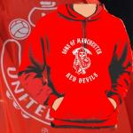 Kapuzenpulli Sons of Manchester red devils rot