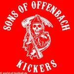 Kapuzenpulli Sons of Offenbach Kickers rot