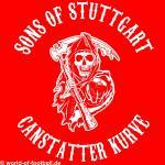 Kapuzenpulli Sons of Stuttgart Cannstatter Kurve rot