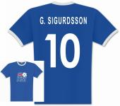 Player T-Shirt Island Sigurdsson 10