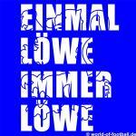 Sechzig T-Shirt Einmal Löwe immer Löwe Shadow