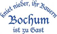 Sweat kniet nieder... Bochum