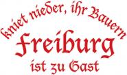 Sweat kniet nieder... Freiburg