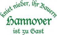 Sweat kniet nieder... Hannover