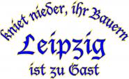 Sweat kniet nieder... Leipzig