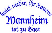 Sweat kniet nieder... Mannheim