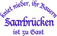 Sweat kniet nieder... Saarbrücken