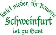 Sweat kniet nieder... Schweinfurt