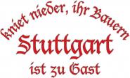 Sweat kniet nieder... Stuttgart
