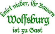Sweat kniet nieder... Wolfsburg