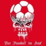 T-Shirt nur Fussball im Kopf rot Ultras
