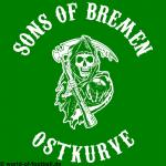 T-Shirt Sons of Bremen Ostkurve grün