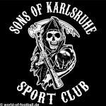 T-Shirt Sons of Karlsruhe Sportclub schwarz