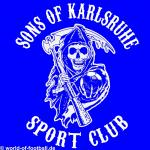 T-Shirt Sons of Karlsruhe Sportclub blau