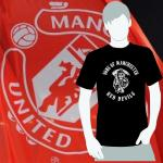 T-Shirt Sons of Manchester red devils schwarz