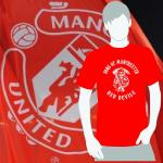 T-Shirt Sons of Manchester red devils rot