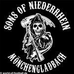 T-Shirt  Sons of  Niederrhein Mönchengladbach schwarz