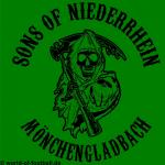 T-Shirt  Sons of  Niederrhein Mönchengladbach grün