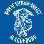 T-Shirt Sons of Sachsen-Anhalt Magdeburg blau