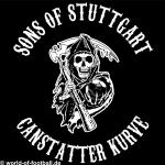 T-Shirt Sons of Stuttgart Cannstatter Kurve schwarz
