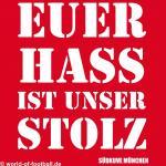 Herren Pullover Hoodie Euer Hass ist unser Stolz Bayern rot