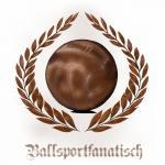 T-Shirt Ballsportfanatisch weiss Fussball Ultras