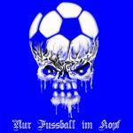 T-Shirt nur Fussball im Kopf blau Ultras